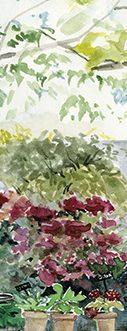 """Marque page botanique """"Le petit jardin d'hortensias"""""""