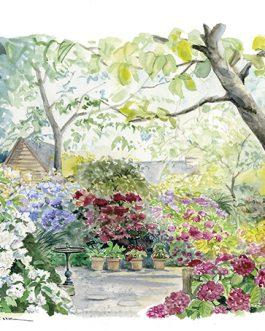 """""""Le Petit jardin d'hortensias"""" A4"""